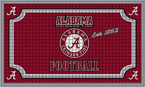 Team Sports America NCAA Embossed Floor Mat, 18 x 30 inches (Rug Rug Medium Crimson)