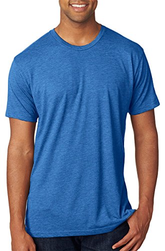 Blue Blend (Next Level Men's USA Tri-Blend Tee, Vintage Royal, Small)