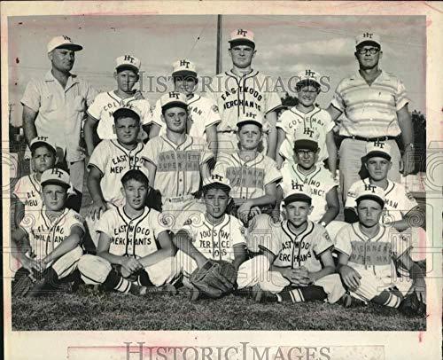 1958 Press Photo Houston Terrace All Stars Little League Baseball Team Portrait