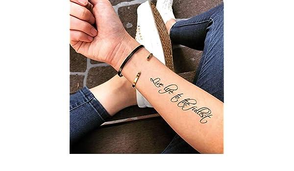 Tatuaje Temporal de Vivir la vida al máximo (2 Piezas) - www ...