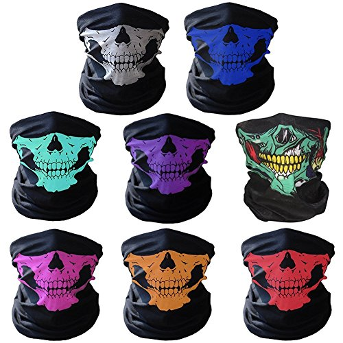 [Bazaar Multifunctional Seamless Changed Magic Scarf Halloween Costumes Skull Head Scarf Mask Multi] (Scarf Halloween Costumes)