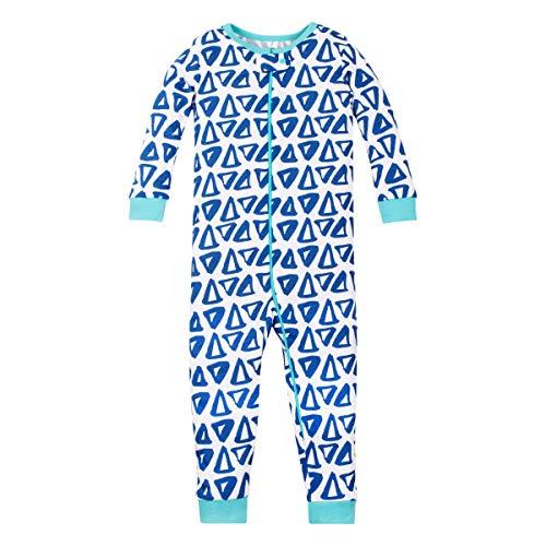 - LAMAZE Organic Baby/Toddler Girl, Boy, Unisex Stretchie, Blue Triangles, 2T