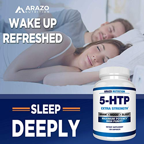 5-HTP 200 mg Supplement - 120 Capsules - Arazo Nutrition by Arazo Nutrition (Image #4)