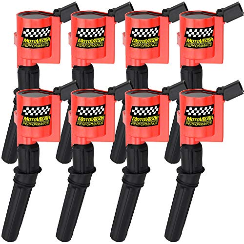 High Performance Ignition Coil 8 Pack For Ford F-150 F-250 F-350 4.6L 5.4L V8 CROWN VICTORIA EXPEDITION MUSTANG LINCOLN MERCURY Upgrade Compatible with DG508 DG457 DG472 DG491 ()