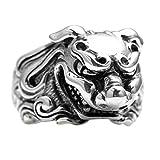 Adisaer Biker Rings Silver Ring for Men Animal Ring Size 8 Vintage Punk Jewelry