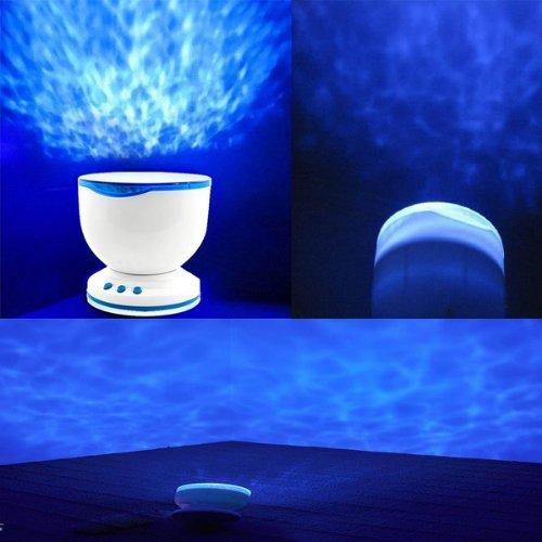 PREMIUM Ozean Waves Wellen Projektor - LED Lampe / Nachtlicht mit integriertem Lautsprecher
