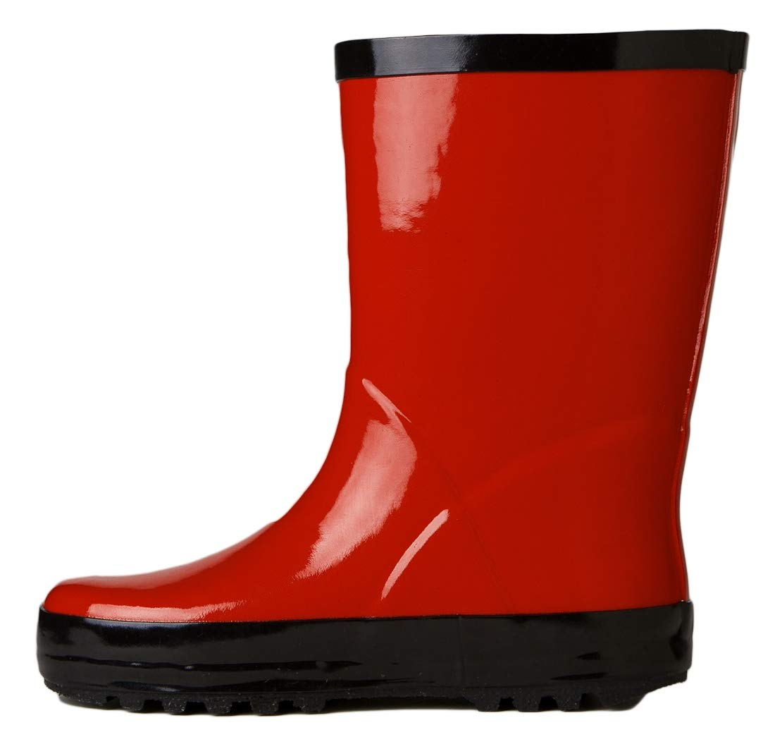 Stonz All-Natural Rubber Rainboot Rain Boots for Toddler Little Big Kid - Waterproof Colorful Warm - Summer Fall Winter - Red, Size 9T by Stonz (Image #3)