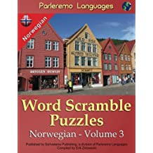 Parleremo Languages Word Scramble Puzzles Norwegian - Volume 3