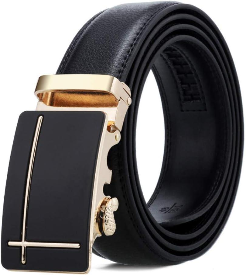 Gift Belt Gift Belt,Gold,One Size PLLP Mens Leather Belt Lychee Pattern Automatic Buckle Black Belt Fashion Belt Business Double-Sided Leather Mens Belt
