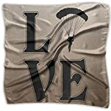 LOVE PARACHUTING-SKYDIVING Men Women Silky Scarf Scarf Shawl Bandana Wrap Scarf