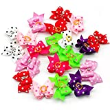 Beirui-20pcs-Cute-Dog-Hair-Bows-with-Rubber-Bands-Adorable-Crystal-Rhinestone-Studded-Sparkly-Nylon-Pet-Grooming-Accessoriess-for-Long-Hair-Dog-Kitten