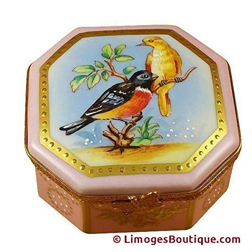 - STUDIO COLLECTION - BIRDS & BUTTERFLIES - LIMOGES BOX AUTHENTIC PORCELAIN FIGURINE FROM FRANCE
