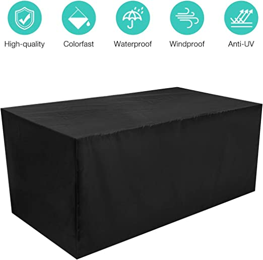 HOCOSY Funda Muebles Jardin Impermeable, Protector Mesa Apilables ...