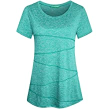 Kimmery Women's Short Sleeve Yoga Tops Activewear Running Workout T-Shirt