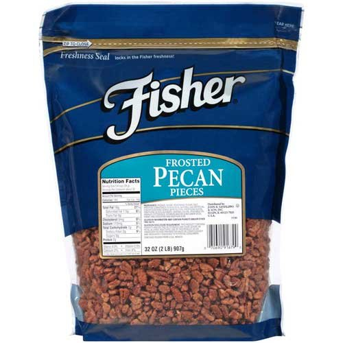 Fisher Chefs Naturals Fancy Frosted Pecan Piece, 2 Pound - 3 per case.
