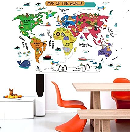 Buy oren empower artistic map of the world wall stickers finished oren empower artistic map of the world wall stickers finished size on wall 60 gumiabroncs Image collections