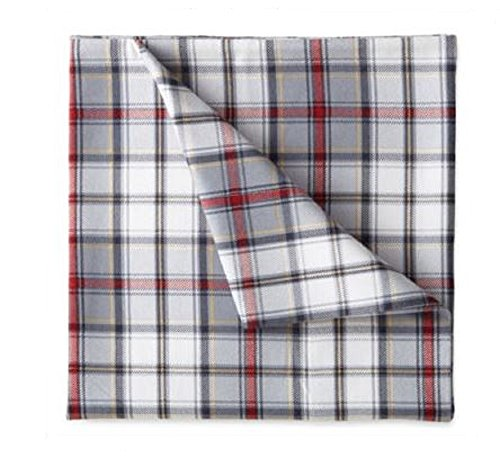 Jcp Home 100  Cotton Heavyweight Flannel Sheet Set Blue   Red Plaid  Twin Xl