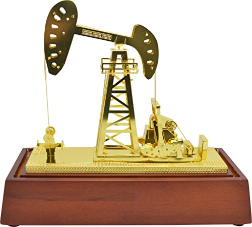 - Tang-Dynasty New Copper Oilfield Oil Well Pumping Unit Gold Color Model Commemorative Edition