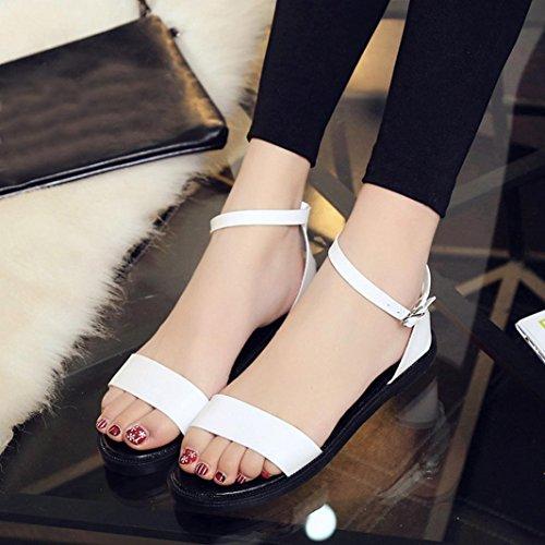 Deesee (tm) Zomer Sandalen Dames Platte Mode Sandalen Comfortabele Dames Schoenen Wit