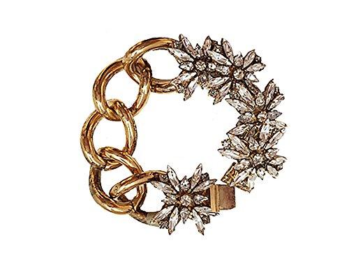 VICKISARGE Bracelet Plaqué Or Cristal Transparent Femme