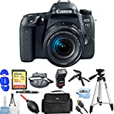 Canon EOS 77D EF-S 18-55 IS STM Kit With Flash, Tripods, 32GB SanDisk Memory Card + Much More #189C016 [International Version] (Starter Bundle)