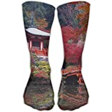 Women Men Classics Socks Kyoto Japan Lake Temple Athletic Stockings 30cm Long Sock One Size