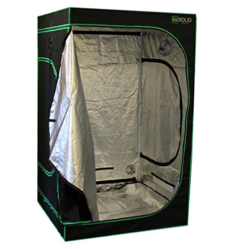 "U.S. Solid Grow Tent- 48""x48""x80"" Hydroponic Grow Room Tent with High Strength Mylar Lined Fabric and a Strong Zipper, Keeps Odors From Getting Out and Pests from Getting In, a Product by U.S. Solid"