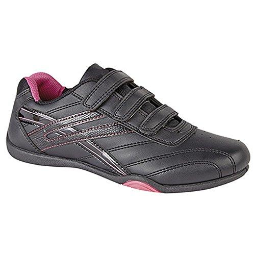 PDQ - Zapatillas deportivas modelo Raven 3 con velcro para mujer Negro/Fucsia