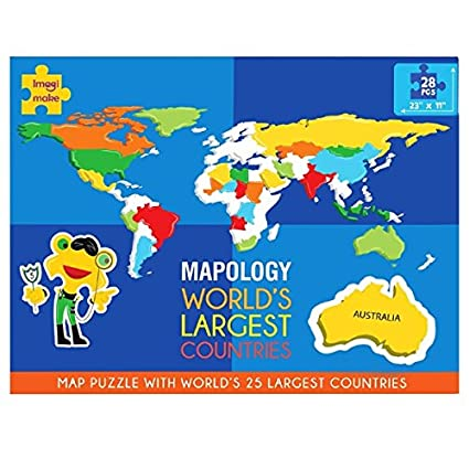 Buy Imagi Make Mapology World\'s Largest Countries - Foam Map Puzzle ...