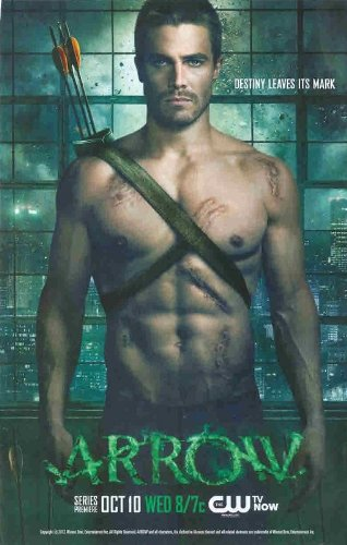 ARROW CW Series Premiere: Oliver Queen, Stephen Amell Sexy; Great Original Photo Print Ad! Layout #1