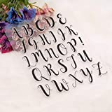YULEKITO Elegant Alphabet Letters Clear Stamps for