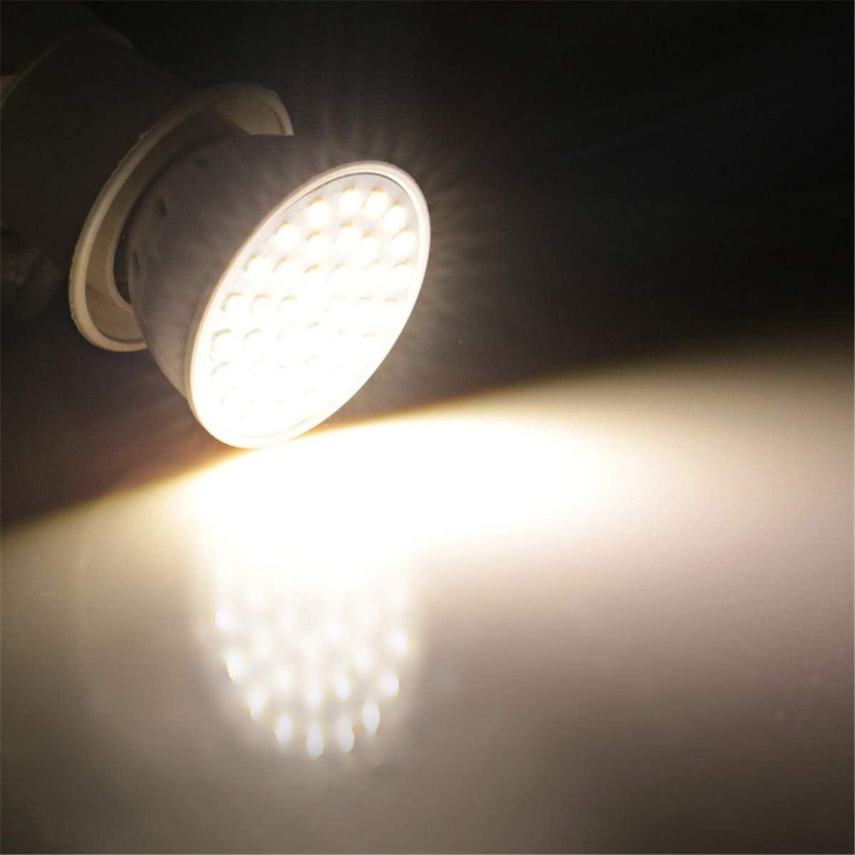 5PCS CNBEAU-LED MR16 LED Spotlight Bulbs 54LED 5W LED 2835SMD 400-500Lm Warm White Cool White Natural White AC 110V//AC 220V Color : 110V, Size : Natural White