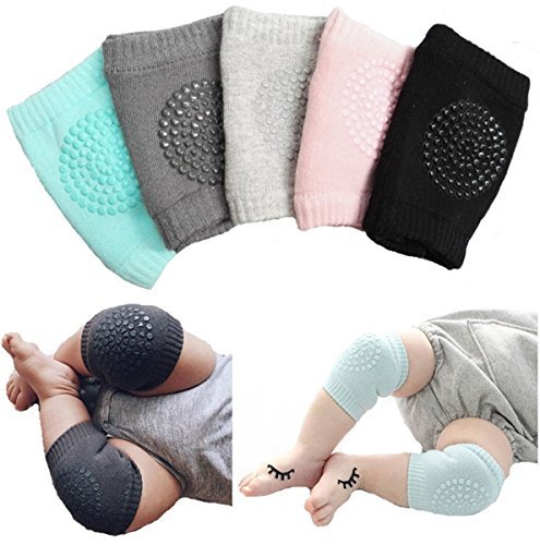 Unisex Baby Toddlers Kneepads, 5 Pairs Adjustable Non-skid Knee Elbow Pads Crawling Safety Protector by Toptim