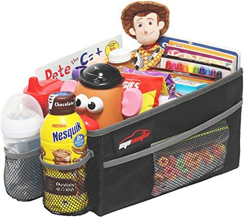 - EPAuto Premium Travel Pal Car Seat Organizer Storage Bin, Drink Holder