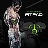 FITPAD Abdominal Trainer ,Body Arms Tricep Toner Automatic Muscle Fitness Light Wearable Individuation Workout Gym and Home Fitness Machine Build Muscles of Abdomen Arms