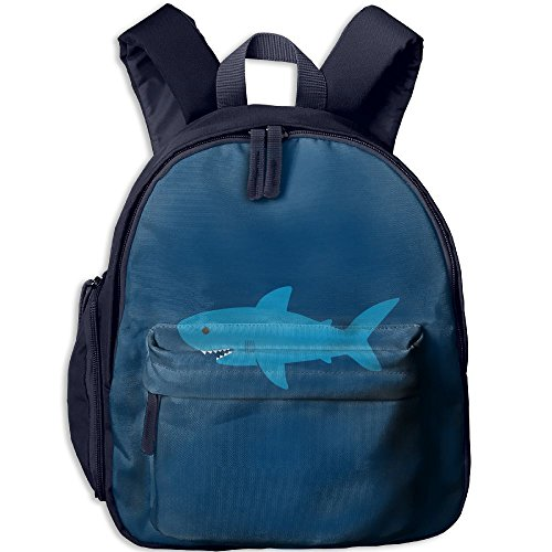 Cute-Shark Printed Kids School Backpack Cool Children Bookbag Navy by PENTA ANGEL