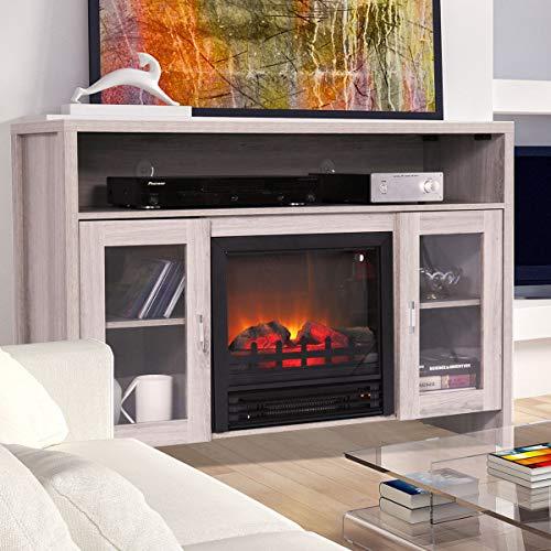 Cheap Thegreatshopman Electric Fireplace TV Console w/ 3D Flame Effect Black Black Friday & Cyber Monday 2019