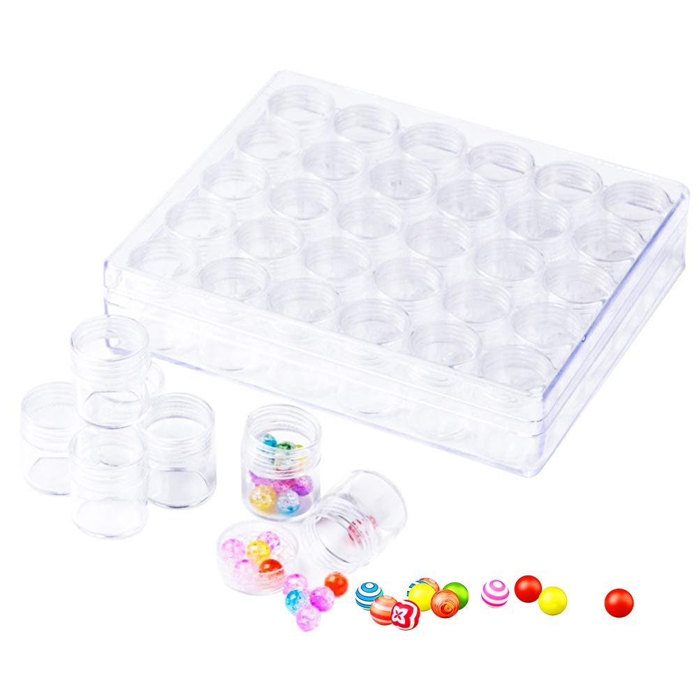 Petite boîte de rangement pour plastique, 30Pacs Boîte conteneurs Bijoux pour boucles d'oreilles Outil, Nail Art strass, Tiny Perle, diamant, crochet de pêche de petites pièces de peinture, comprimés pveath