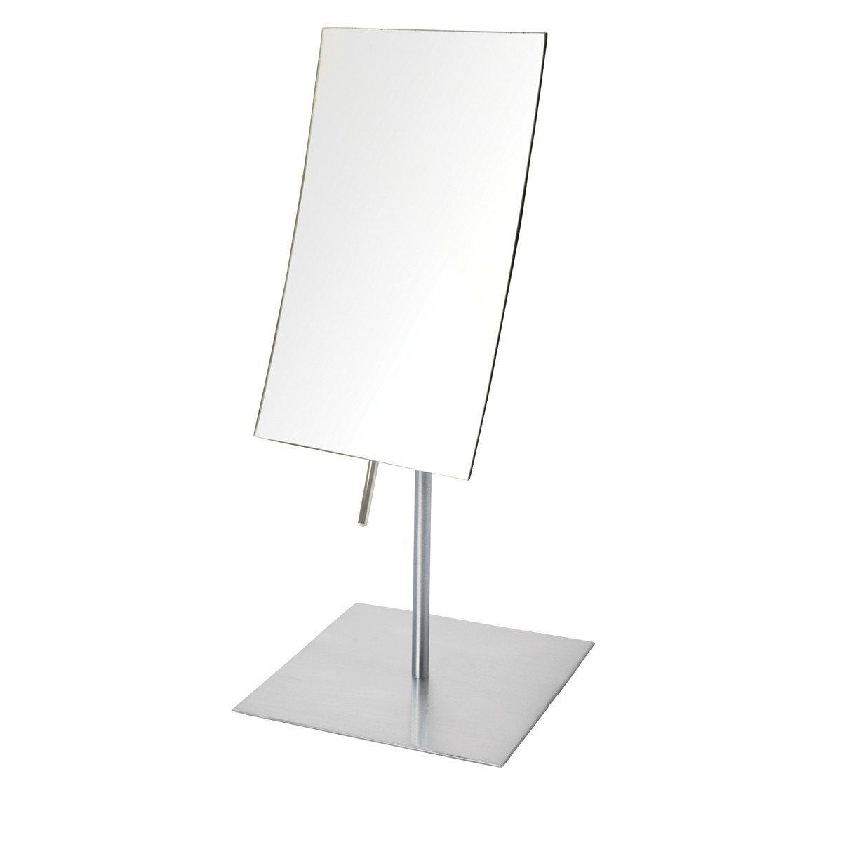 Jerdon JP358N 3X Magnified Tabletop Rectangular Adjustable Mirror, Nickel, 51.2 Ounce