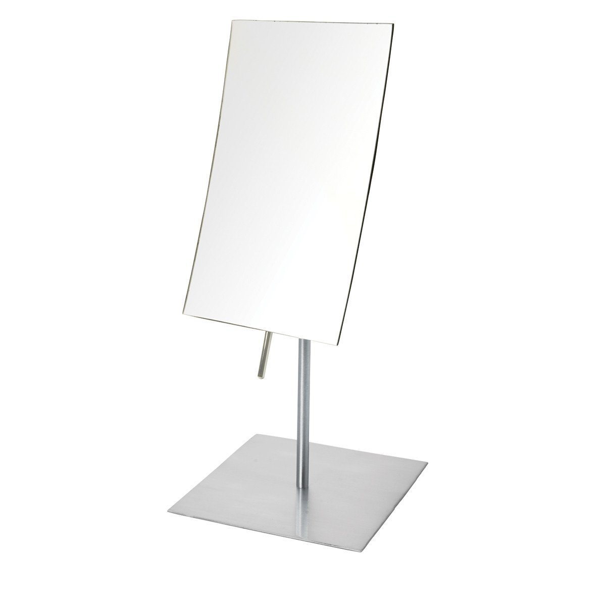 Jerdon JP358N 3X Magnified Tabletop Rectangular Adjustable Mirror, Nickel, 51.2 Ounce by Jerdon