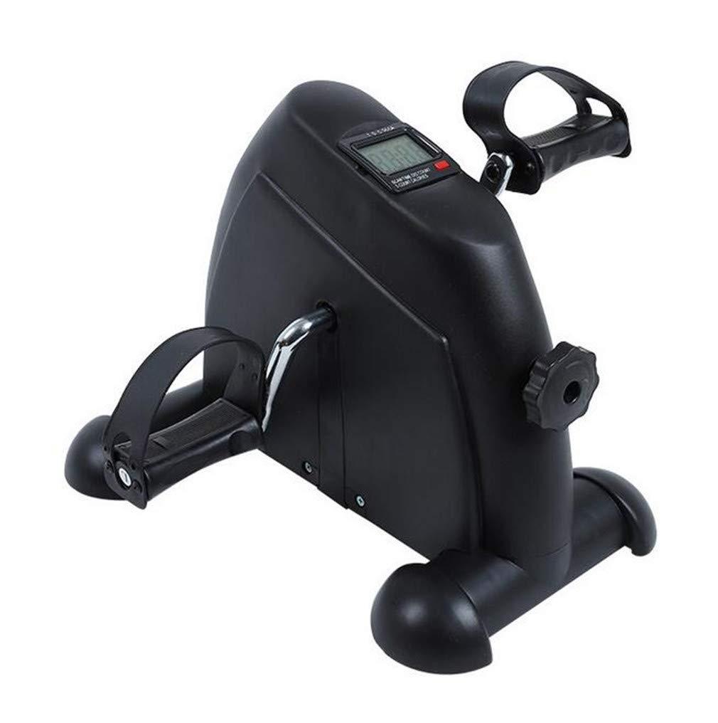 ELEGENCE-Z Mini Cyclette, Portatile Leggero per Bicicletta con Pedale per Braccio Ginnico e per Gamba Cyclette LCD per Bici (Nero)
