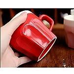 Saibang-Tazza-da-t-o-caff-da-295-ml-in-ceramica-per-gli-amanti-dei-gatti-motivo-gattini-Tazza-rossa-con-cucchiaino-da-caff-rosso