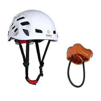 MagiDeal Casco de Seguridad Alpinismo Escalada Rapel Proteger Engranaje Blanco+Aleación De Aluminio 25 KN