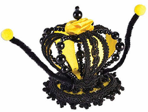 Forum Novelties Queen Bee Bumblebee Mini Crown Hat Yellow Black Costume Headpiece Fascinator