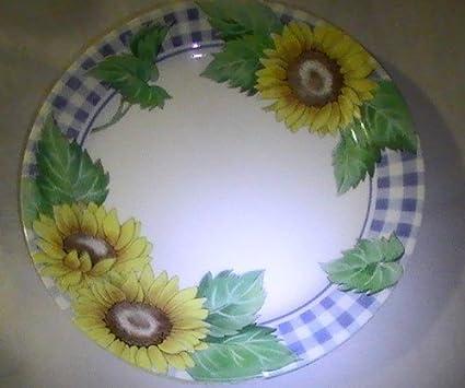 Amazon.com : Corning Corelle Sunsation Sunflowers Dinner Plates ...