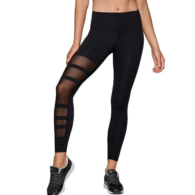 Gusspower Outdoors Pantalones de yoga Mujer, Pantalones Deporte Leggings Adelgazante Gym con Malla para Running Yoga Fitness con Gran Elásticos y Seca ...