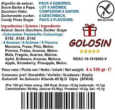 Pack de 4 sabores para máquina de Algodón de azúcar (4 x 350gr ...