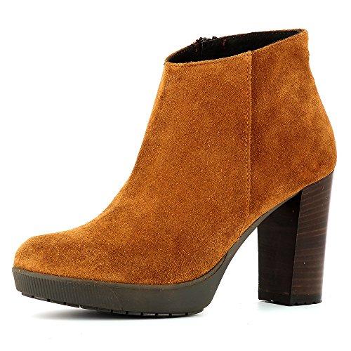 Evita Shoes Ubalda Damen Stiefelette Rauleder Cognac