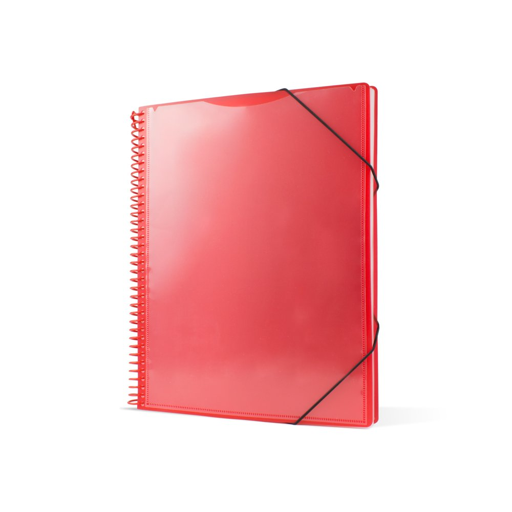 Pryse 4240053–Spiral Folder with 50Sleeves, A4, Red