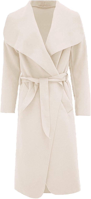 nuovo donna KIM KARDASHIAN Oversize Cascata Cappotto Con Cintura Taglia 8 10 12 14